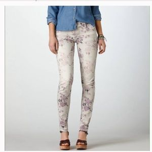 American Eagle Outfitters floral skinny jeans